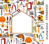repair and building house shape ... | Shutterstock .eps vector #559683433