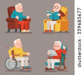 grandfather old man characters... | Shutterstock .eps vector #559685677