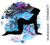 women silhouette on galaxy...   Shutterstock .eps vector #559686877