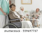 seniors at recreation room at... | Shutterstock . vector #559697737