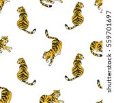 vector seamless pattern with... | Shutterstock .eps vector #559701697