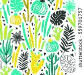 seamless pattern with wild... | Shutterstock .eps vector #559701757