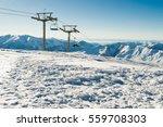 view chairlift at ski resort... | Shutterstock . vector #559708303