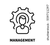 management icon or logo in... | Shutterstock .eps vector #559711297