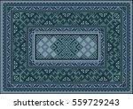 Vintage Carpet With Ethnic...