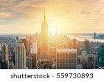 new york city skyline with... | Shutterstock . vector #559730893
