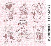 valentines day   romantic... | Shutterstock .eps vector #559733413