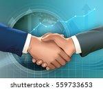 two businessmen shaking hands.... | Shutterstock . vector #559733653