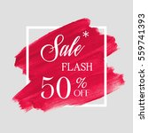sale flash 50  off sign over... | Shutterstock .eps vector #559741393