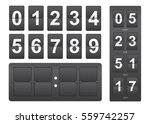 countdown timer. black... | Shutterstock .eps vector #559742257