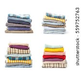 stacks of clothing collection... | Shutterstock . vector #559752763