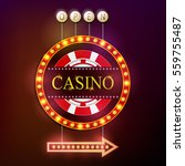 vector illustration of casino... | Shutterstock .eps vector #559755487