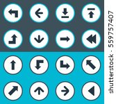 set of 16 simple arrows icons.... | Shutterstock .eps vector #559757407