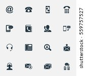 set of 16 simple connect icons. ... | Shutterstock .eps vector #559757527