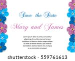 vintage invitation with flowers ... | Shutterstock .eps vector #559761613