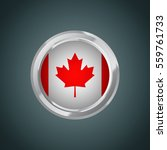 canada flag with round frame ... | Shutterstock .eps vector #559761733
