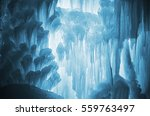 huge ice icicles. large blocks... | Shutterstock . vector #559763497