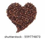 Roasted Coffee Bean In Heart...