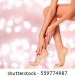 beautiful woman legs on an... | Shutterstock . vector #559774987