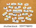 mentoring from cutout newspaper ... | Shutterstock . vector #559778893