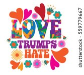 love trumps hate psychedelic...