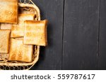 toast the bread on a black... | Shutterstock . vector #559787617