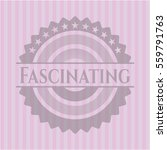 fascinating badge with pink... | Shutterstock .eps vector #559791763