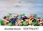 top view organic food  natural... | Shutterstock . vector #559796197