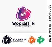 social talk  app  forum  social ... | Shutterstock .eps vector #559799983
