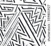 monochrome grunge geometric... | Shutterstock .eps vector #559801927