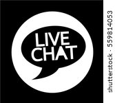 live chat speech bubble icon | Shutterstock .eps vector #559814053