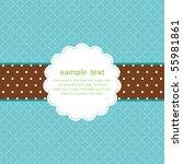 template frame design for... | Shutterstock .eps vector #55981861