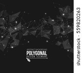 polygonal background with... | Shutterstock .eps vector #559820263