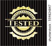 tested gold badge or emblem | Shutterstock .eps vector #559824847