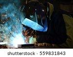 welders working at the factory... | Shutterstock . vector #559831843