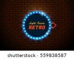 light frame  shining retro... | Shutterstock .eps vector #559838587