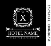 luxury logo template in vector...   Shutterstock .eps vector #559841473