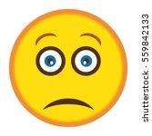 sad smiley illustration vector | Shutterstock .eps vector #559842133