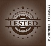 tested badge with wooden... | Shutterstock .eps vector #559865113