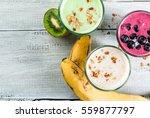 refreshing milkshakes or... | Shutterstock . vector #559877797
