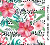 seamless pattern with... | Shutterstock . vector #559879453