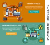 industry set horizontal banners ... | Shutterstock .eps vector #559883743