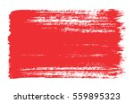 the red vector brush strokes of ... | Shutterstock .eps vector #559895323