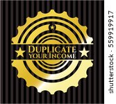 duplicate your income gold... | Shutterstock .eps vector #559919917