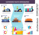 gathering waste flat... | Shutterstock .eps vector #559928707