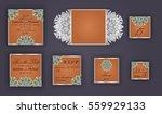 vintage wedding invitation... | Shutterstock .eps vector #559929133