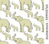 seamless pattern smiling ... | Shutterstock .eps vector #559935763