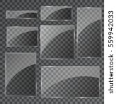 vector glass banners on... | Shutterstock .eps vector #559942033