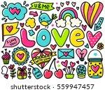 doodles cute elements. color...