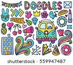doodles cute elements. color... | Shutterstock .eps vector #559947487